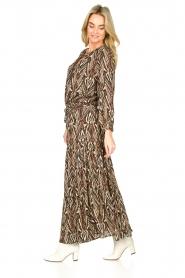 Louizon |  Printed maxi skirt Jagarma | beige  | Picture 6