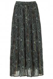 Louizon | Maxi-rok met lurex strepen Jagarma | groen   | Afbeelding 1