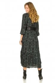 Louizon |  Maxi skirt with lurex stripes Jagarma | green  | Picture 5