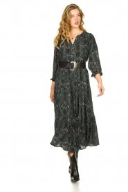 Louizon |  Maxi skirt with lurex stripes Jagarma | green  | Picture 2