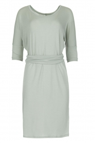 Blaumax |  Dress with waist band Mila | soft blue  | Picture 1