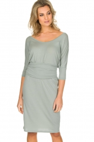 Blaumax |  Dress with waist band Mila | soft blue  | Picture 4