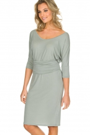 Blaumax |  Dress with waist band Mila | soft blue  | Picture 2