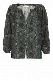 Louizon |  Printed blouse Joel | blue  | Picture 1