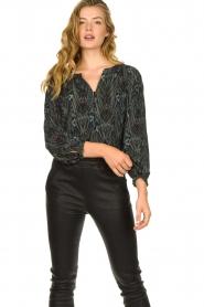 Louizon |  Printed blouse Joel | blue  | Picture 2