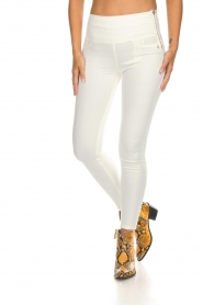 Patrizia Pepe | High waist jeans Norelle | wit  | Afbeelding 3