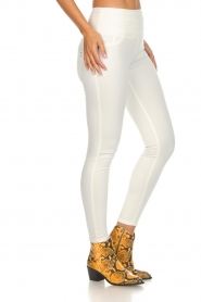 Patrizia Pepe | High waist jeans Norelle | wit  | Afbeelding 4