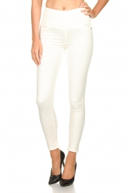 Patrizia Pepe |  High waist jeans Norelle | white  | Picture 2
