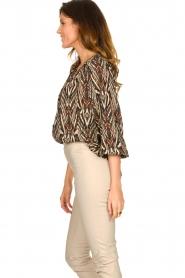 Louizon |  Printed blouse Joel | beige  | Picture 6