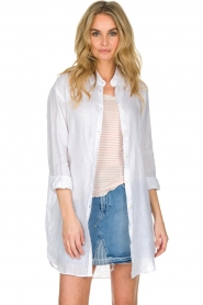 BLAUMAX | Linnen blouse Marlyne | Wit  | Afbeelding 2