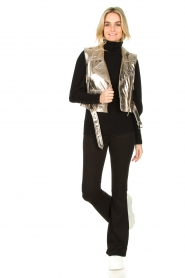 STUDIO AR BY ARMA |  Leather waistcoat Moon | gold  | Picture 3