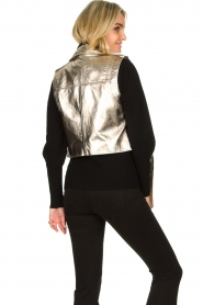 STUDIO AR BY ARMA |  Leather waistcoat Moon | gold  | Picture 5