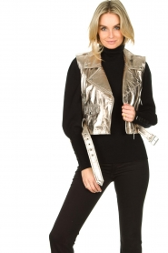 STUDIO AR BY ARMA |  Leather waistcoat Moon | gold  | Picture 4