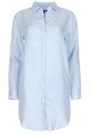 BLAUMAX | Linnen blouse Marlyne | Blauw  | Afbeelding 1