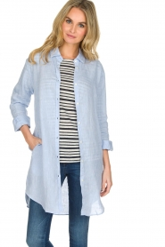 BLAUMAX | Linnen blouse Marlyne | Blauw  | Afbeelding 2