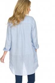 BLAUMAX | Linnen blouse Marlyne | Blauw  | Afbeelding 5