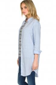 BLAUMAX | Linnen blouse Marlyne | Blauw  | Afbeelding 4