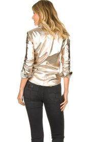 STUDIO AR BY ARMA | Golden leather blouse Dita | gold  | Picture 7