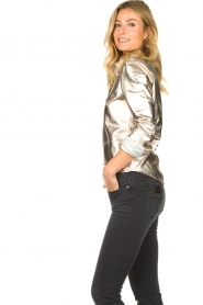 STUDIO AR BY ARMA | Golden leather blouse Dita | gold  | Picture 6