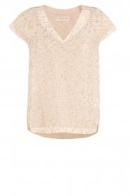 Rosemunde | Zijden top Gold | creme  | Afbeelding 1