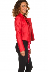Patrizia Pepe |  Leather biker jacket Alize | red  | Picture 4