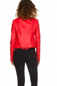 Patrizia Pepe |  Leather biker jacket Alize | red  | Picture 5