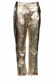 STUDIO AR BY ARMA |  Metallic leather chino pants Nessa | gold  | Picture 1