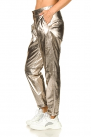 STUDIO AR BY ARMA |  Metallic leather chino pants Nessa | gold  | Picture 6