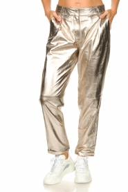 STUDIO AR BY ARMA |  Metallic leather chino pants Nessa | gold  | Picture 5