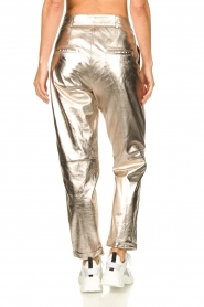 STUDIO AR BY ARMA |  Metallic leather chino pants Nessa | gold  | Picture 7