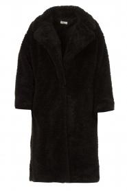 JC Sophie |  Faux fur coat Judy | black  | Picture 1