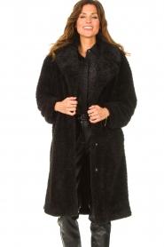 JC Sophie |  Faux fur coat Judy | black  | Picture 4
