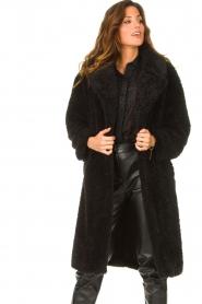 JC Sophie |  Faux fur coat Judy | black  | Picture 2