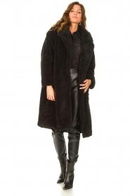 JC Sophie |  Faux fur coat Judy | black  | Picture 3