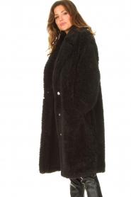 JC Sophie |  Faux fur coat Judy | black  | Picture 5