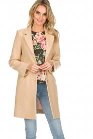 Patrizia Pepe |  Classic coat Bernadette | beige  | Picture 2