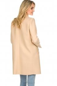 Patrizia Pepe |  Classic coat Bernadette | beige  | Picture 6