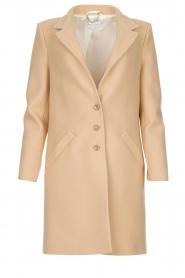 Patrizia Pepe |  Classic coat Bernadette | beige  | Picture 1