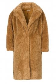 JC Sophie |  Faux fur coat Judy | camel  | Picture 1