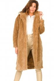 JC Sophie |  Faux fur coat Judy | camel  | Picture 4