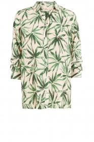My Sunday Morning | Zijden blouse Nora | groen  | Afbeelding 1