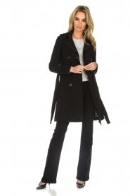 Patrizia Pepe |  Classic trench coat Mariella | black  | Picture 4