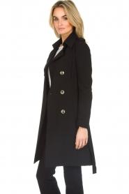Patrizia Pepe |  Classic trench coat Mariella | black  | Picture 5