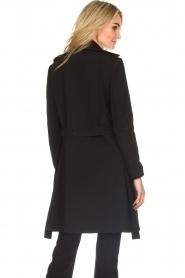 Patrizia Pepe |  Classic trench coat Mariella | black  | Picture 6
