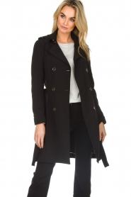 Patrizia Pepe |  Classic trench coat Mariella | black  | Picture 2