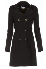 Patrizia Pepe |  Classic trench coat Mariella | black  | Picture 1