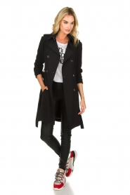 Patrizia Pepe |  Classic trench coat Mariella | black  | Picture 3