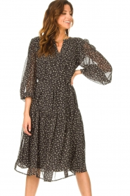 JC Sophie |  Midi dress with print Juno | cobalt  | Picture 4