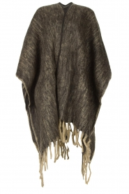 JC Sophie |  Knitted poncho Jaelle | grey  | Picture 1