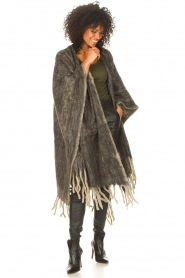 JC Sophie |  Knitted poncho Jaelle | grey  | Picture 3